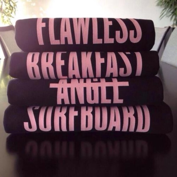 skirt black beyonce flawless surf pink yonce sweater breakfast blouse