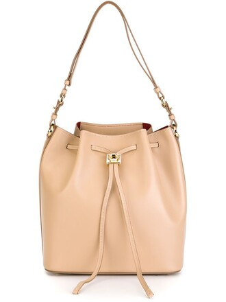 drawstring bag shoulder bag nude