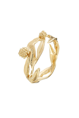 ring gold yellow jewels