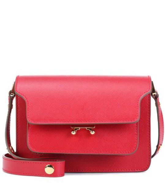 MARNI bag shoulder bag leather red