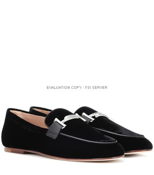 Tod's Exclusive to mytheresa – Double T velvet loafers in black
