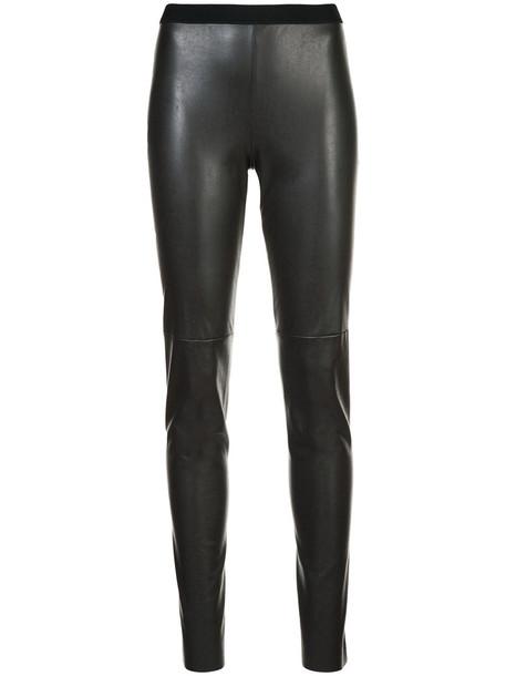 Marc Cain - straight leg trousers - women - Polyamide/Polyurethane - 44, Brown, Polyamide/Polyurethane