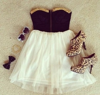 dress bows heels leopard print leopard heels chiffon chiffon dress studs studded dress corset dress short dress summer dress
