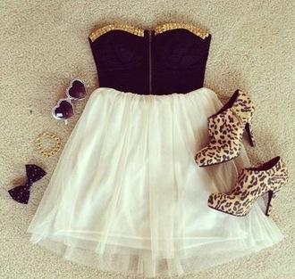 dress bows heels leopard print leopard heels chiffon chiffon dress studs studded dress corset dress short dress summer dress