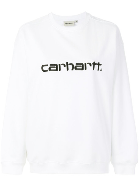Carhartt sweatshirt embroidered women white cotton sweater