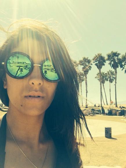 green dress green summer dress sunglasses california los angeles