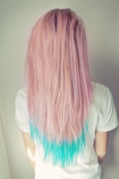 hair accessory,pastel,blue,pink,pastel pink,bright blue,grunge,kawaii grunge,hair dye