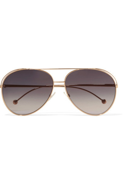 Fendi style sunglasses gold
