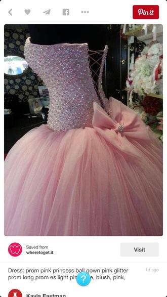 dress pink dress prom dress bow dress