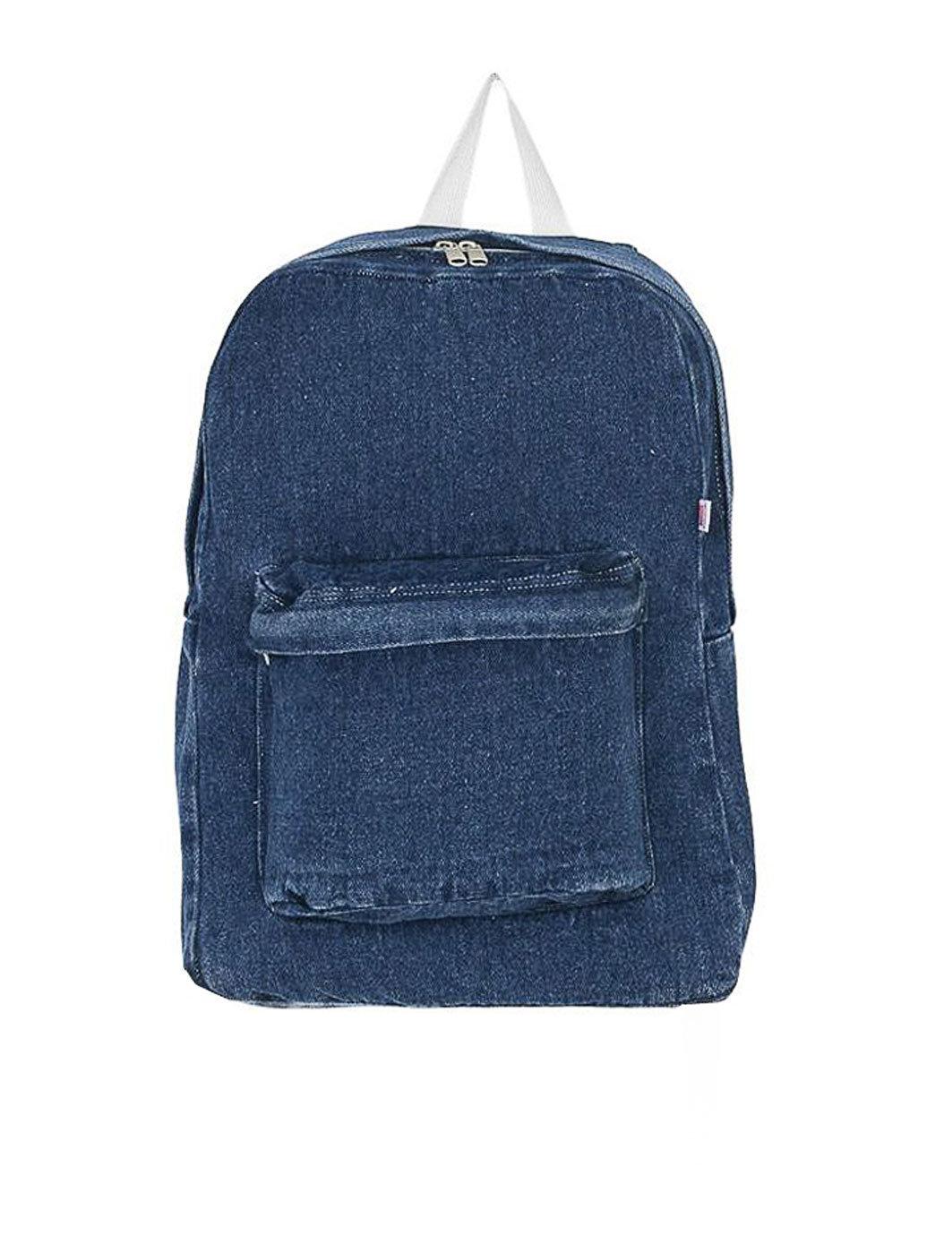 Denim School Bag   American Apparel