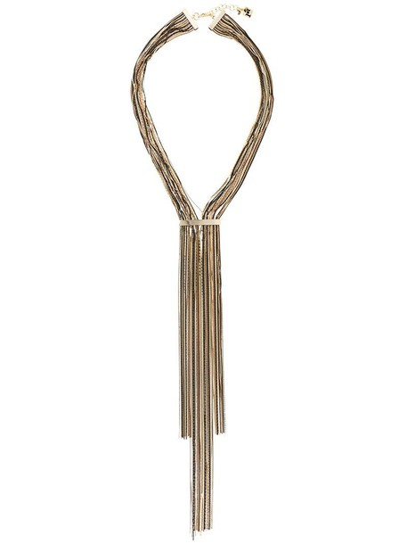 Rosantica women necklace grey metallic jewels