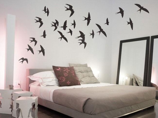 Genial Swallows Wall Sticker Set   Flying Birds Wall Decor