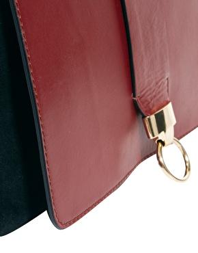 ASOS | ASOS Leather Cross Body Bag With Door Knocker Detail at ASOS