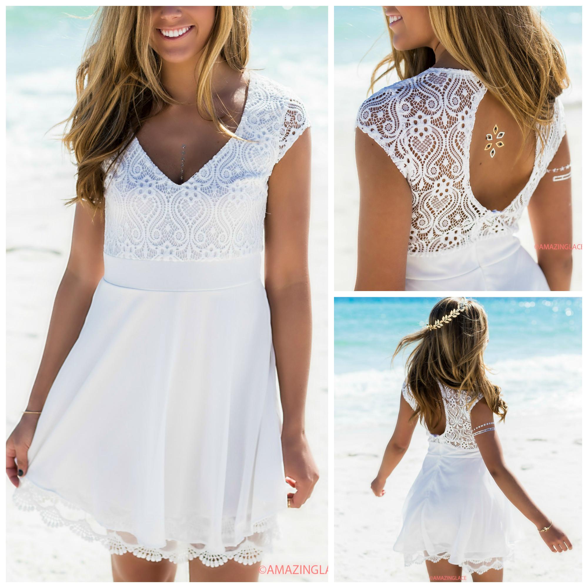 dress - White Amazing lace dresses video