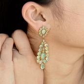 jewels,opal,earrings,gold,jewelry,fashion,handmade