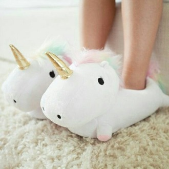 shoes unicorn slippers