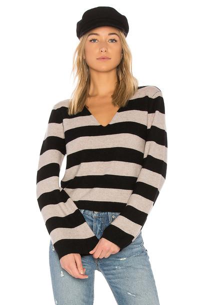 27 miles malibu sweater striped sweater black