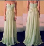 prom dress,long dress,chiffon dress,evening dress,mint dress,chiffon evening dress,2014 prom dress