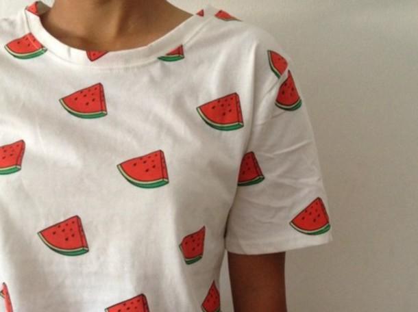 shirt melon melon shirt watermelon shirt design print vogue chanel tumblr internet grunge hipster hippie boho bohemian top watermelon print watermelon print weheartit