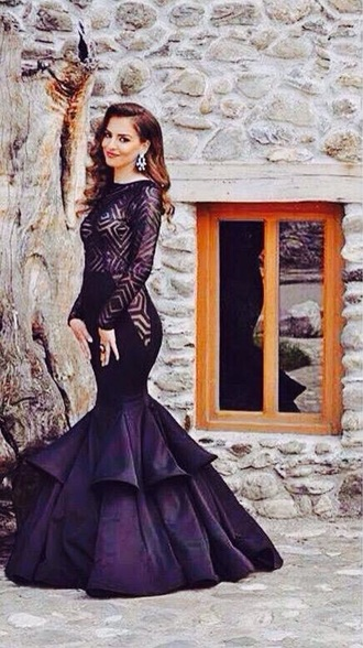 dress prom black dress laced prom dress black prom dress