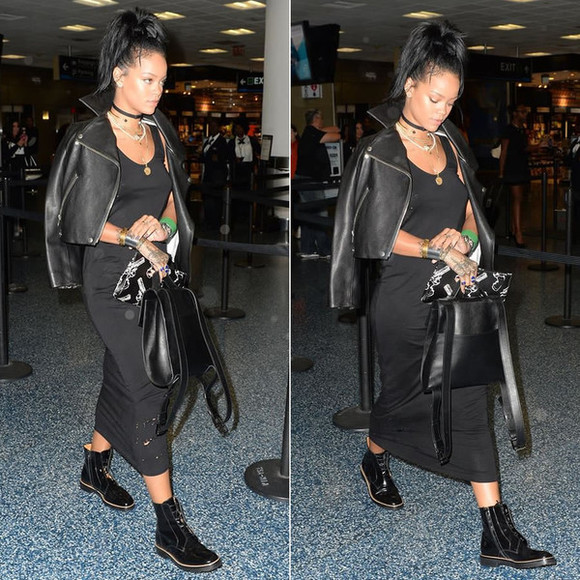 rihanna jewels shoes boots fall outfits necklace choker necklace bag clutch