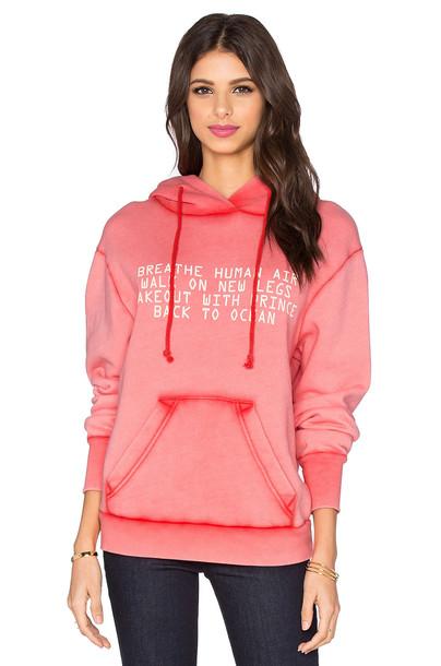 Wildfox Couture hoodie mermaid pink