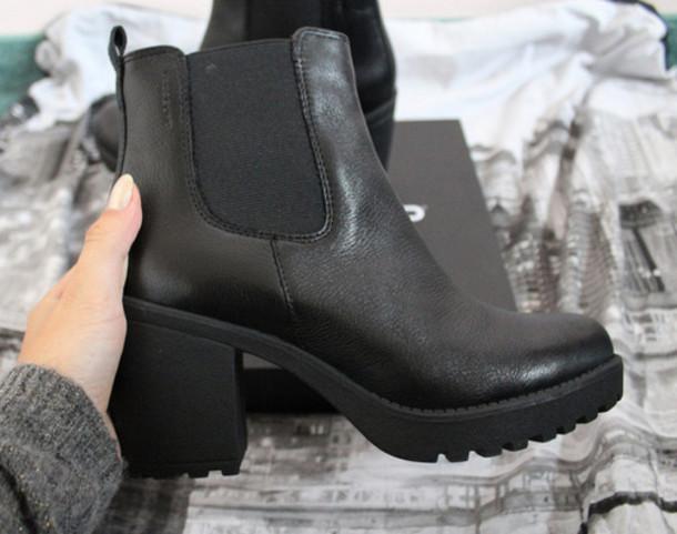 shoes black boots black flatforms ankle boots high heels. Black Bedroom Furniture Sets. Home Design Ideas