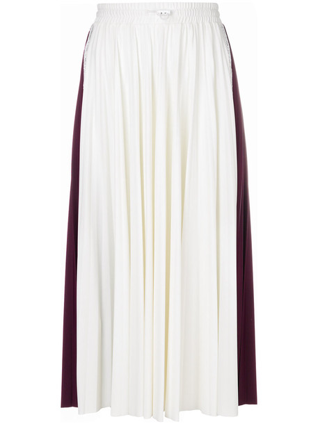 Valentino skirt midi skirt pleated women midi spandex white