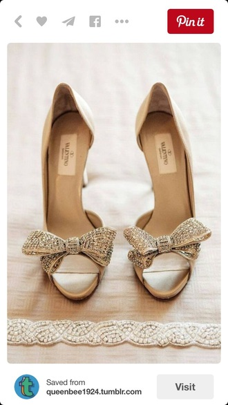shoes wedding shoes bow high heels valentino