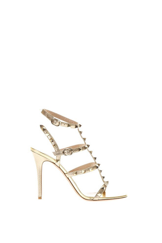studded sandals leather sandals gold leather shoes