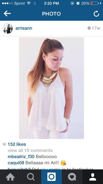blouse white cami