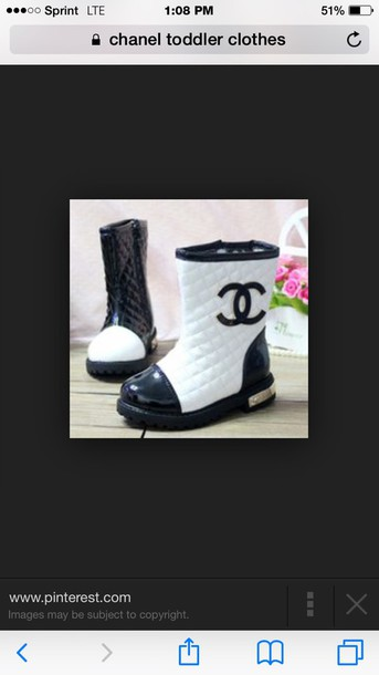 shoes chanel boots chanelboots toddler chanel