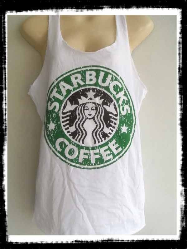 New Starbucks Coffee Ladies Tank Top Singlet Vest T Shirt Women Free Shipping | eBay