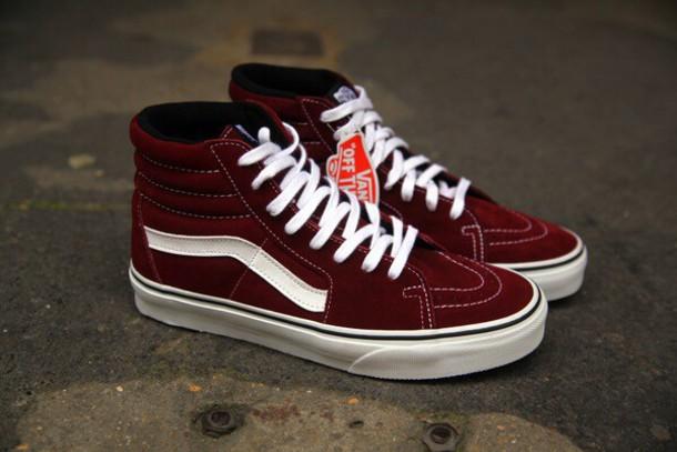 burgundy sk8 hi vans mens vans shoes buy vans shoes online