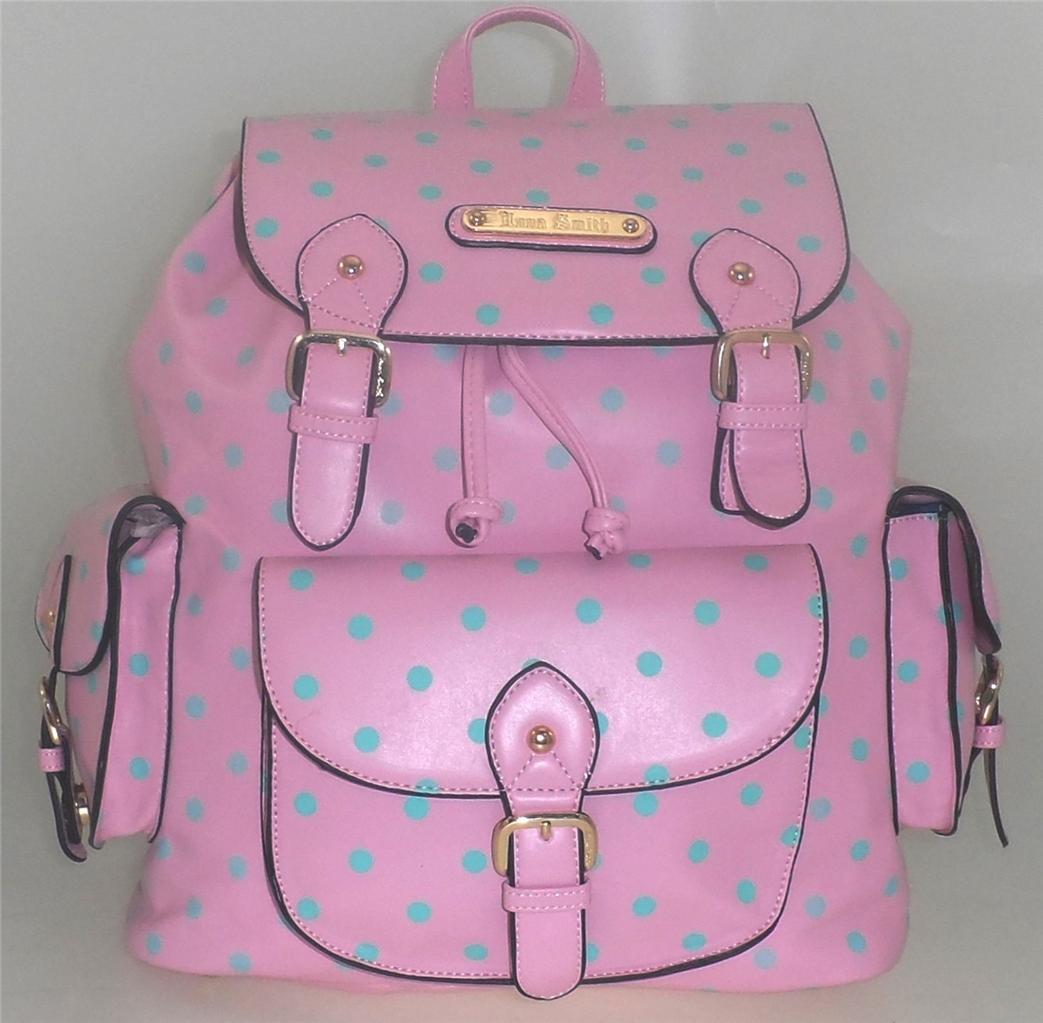 LARGE LADIES ANNA SMITH POLKA DOT SCHOOL COLLEGE SHOULDER BACKPACK RUCKSACK BAG | eBay