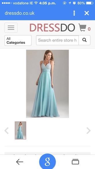 dress sky blue dress debs dress dimonte floor length dress fashion halter neck a line prom gowns chiffon dress