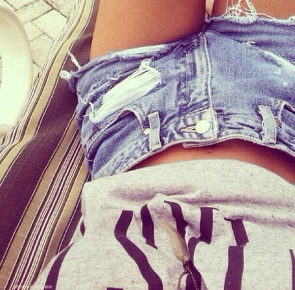 clothes summer grey t-shirt shorts denim jeans shorts jeans tank top