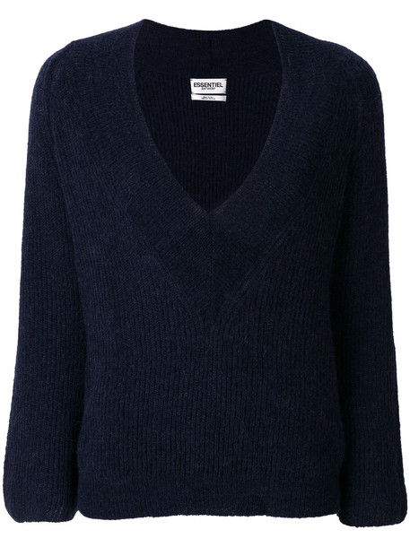 jumper women mohair blue sweater