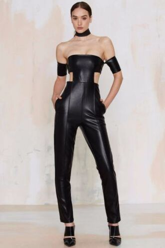 jumpsuit black collar shoes off the shoulder jewels jewelry black choker choker necklace necklace accessory accessories