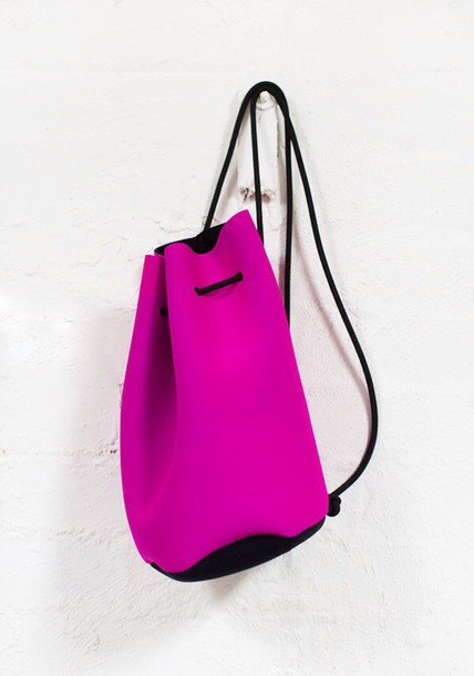 bag backpack hot pink
