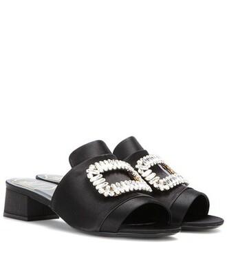 embellished sandals satin black shoes