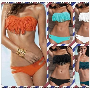 2013 sexy usa secret neon push up swimsuit the bathing suit discount monokinis bandage bikini swimwear VS V shade Fringe Tassel-in Bikinis Set from Apparel & Accessories on Aliexpress.com