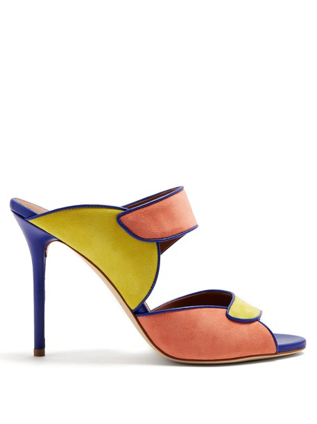 MALONE SOULIERS sandals suede blue shoes
