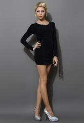 dress,twisted,metallic,wrap,black