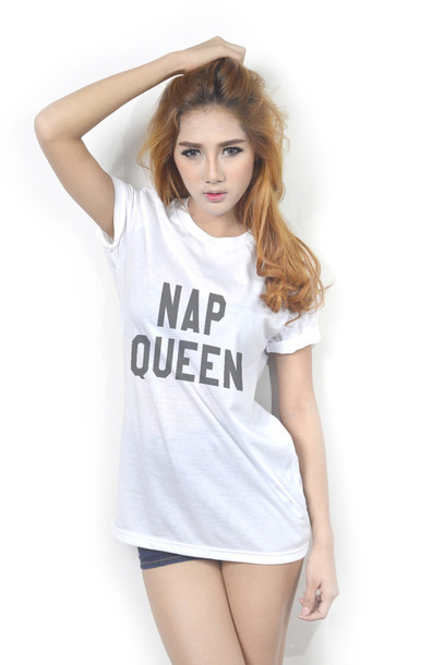 6a833e21bf632 shirt nap queen nap queen t-shirt top clothes clothes outfit cute girl  tumblr graphic