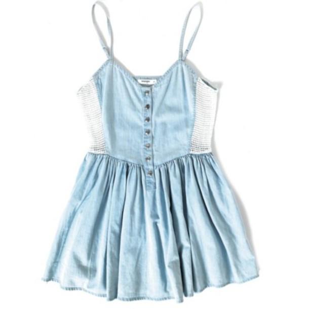 blue dress mini dress denim dress dress blue denim white baby blue baby doll dress light blue buttondown straps cute romper