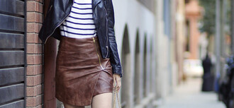 fake leather blogger jacket sweater top skirt bag shoes sunglasses