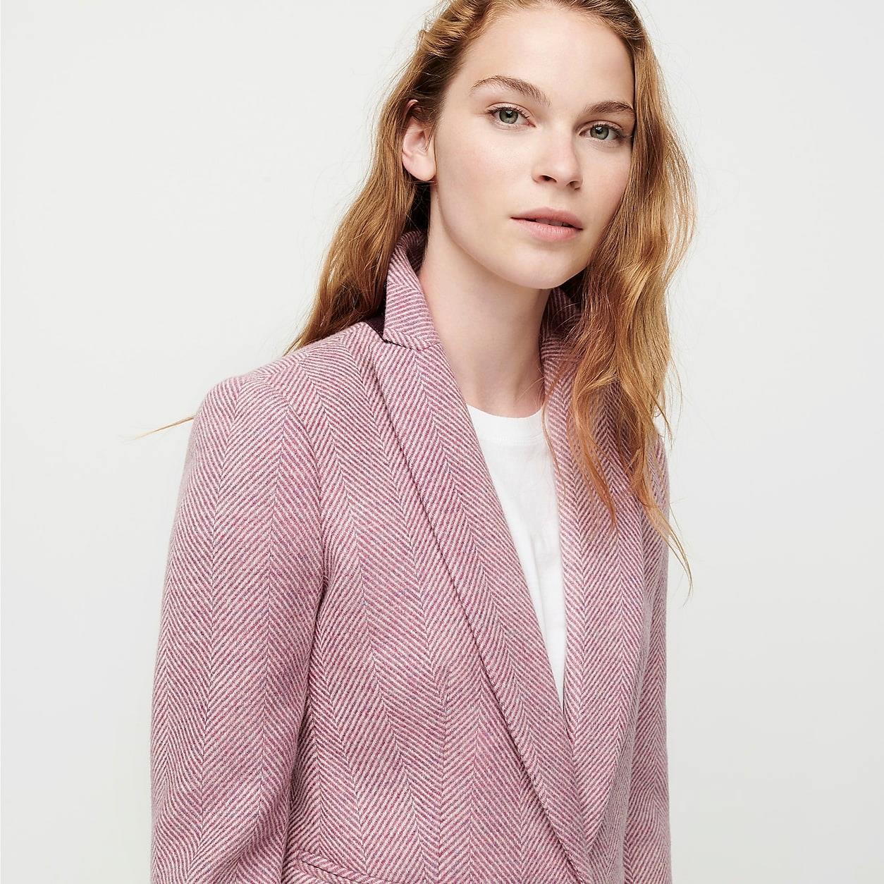 Parke Blazer In English Herringbone Wool