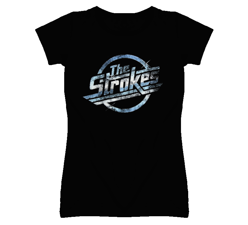 The Strokes Faded Distressed Look T Shirt
