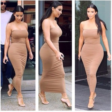 Aliexpress.com : Buy sexy strapless Women Long Maxi Bodycon Bandage Dresses kim kardashian celebrity dresses 2014 Summer Autumn Vestidos Casual from Reliable dress clothe suppliers on Runway Dress Boutique